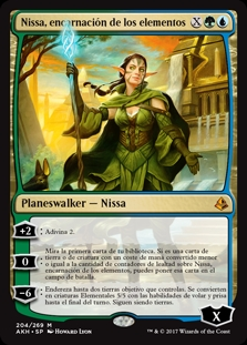Nissa, encarnación de los elementos - Nissa, Steward of Elements