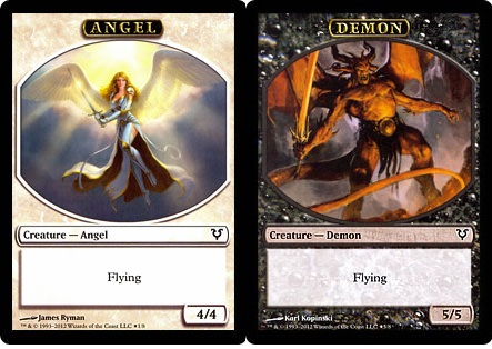 Ficha Doble Ángel / Demonio - Angel / Demon Token