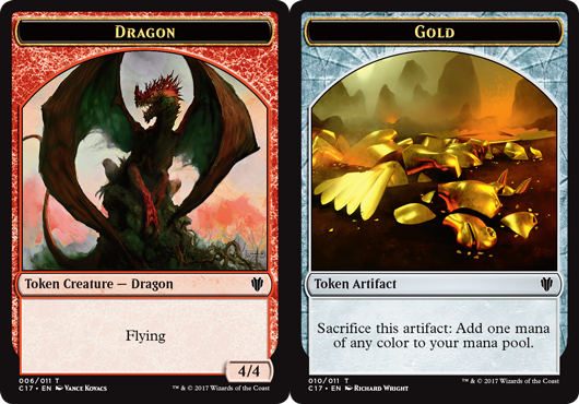 Ficha doble Dragón/Oro - Dragon/Gold