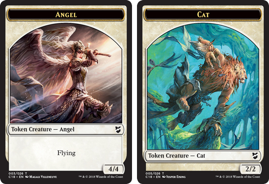 Ficha doble de Ángel-Felino // Angel-Cat Token