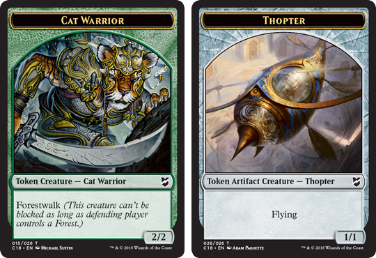 Ficha doble de Tóptero-Guerrero Felino // Thopter-Cat Warrior Token