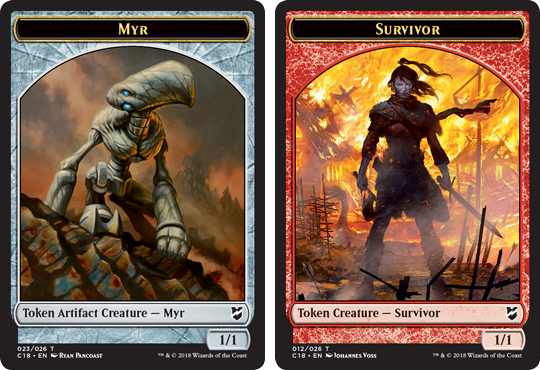 Ficha doble de Superviviente-Myr // Survivor-Myr Token