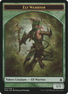 Ficha de Guerrero elfo - Elf Warrior Token