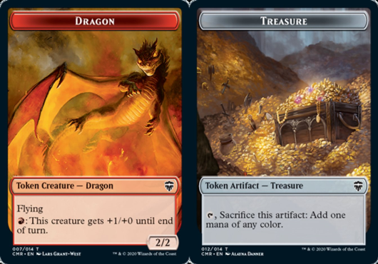 Ficha de Dragón/Tesoro - Dragon/Treasure Token (Foil)