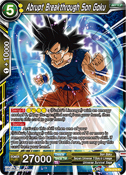 Abrupt Breakthrough Son Goku