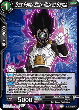 Dark Power Black Masked Saiyan (Foil)