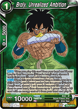 Broly, Unrealized Ambition