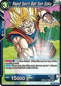 Rapid Spirit Ball Son Goku