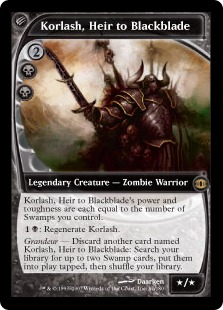 Korlash, heredero de Blackblade - Korlash, Heir to Blackblade (Foil)(Pre-Release)(LP)