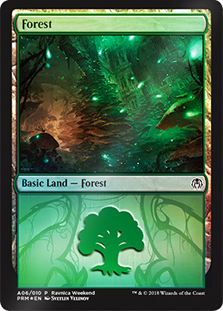 Bosque - Forest (Foil)(Golgari)(Ravnica Weekend)