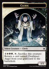 Ficha doble Clérigo/Tesoro - Cleric/Treasure Token