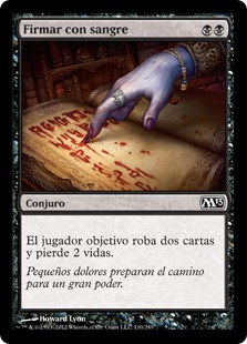 Firmar con sangre - Sign in Blood (Foil)