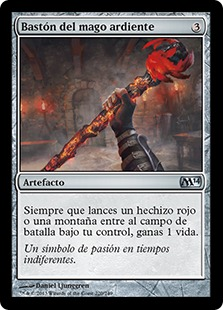 Bastón del mago ardiente - Staff of the Flame Magus