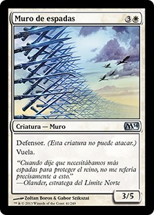 Muro de espadas - Wall of Swords