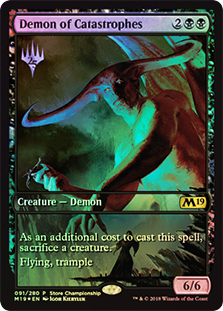 Demonio de las catástrofes - Demon of Catastrophes (Store Championship)(Full Art)(Foil)