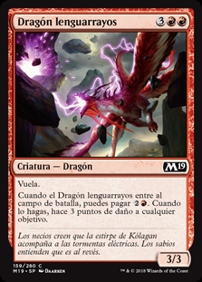 Dragón lenguarrayos - Sparktongue Dragon