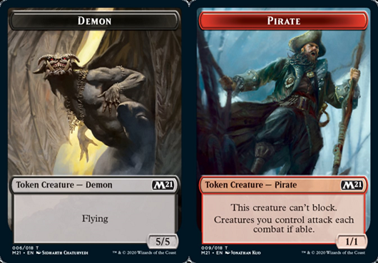 Ficha de Demonio/Pirata - Demon/Pirate Token