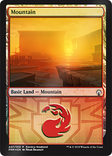 Montaña - Mountain (Foil)(Boros)(Ravnica Weekend)