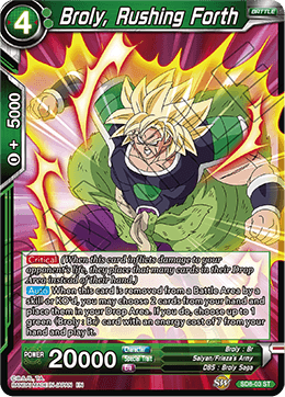 Broly, Rushing Forth