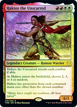 Haktos the Unscarred (Pre-Release)(Foil)