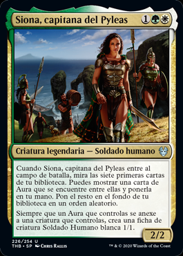 Siona, capitana del Pyleas - Siona, Captain of the Pyleas