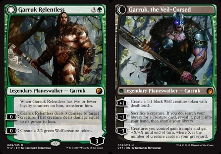 Garruk implacable - Garruk Relentless // Garruk, maldito por el Velo - Garruk, the Veil-Cursed